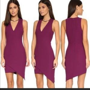 Elizabeth & James Rosa Asymmetrical Dress Berry 6